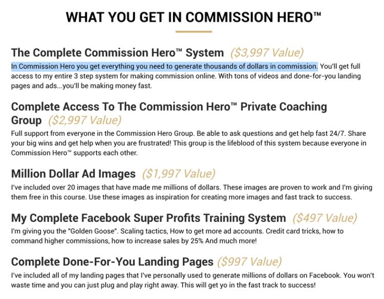 Commission Hero Training Modules